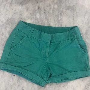 Sea foam jcrew shorts